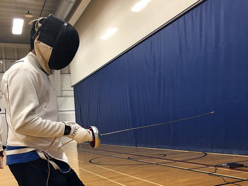 Fencing in adapted camp